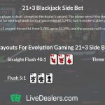 Blackjack side bet 21+3
