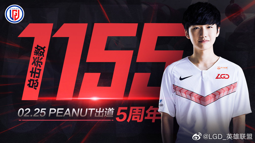 Peanut, LGD Gaming's current jungle.  Trained in Korea, currently in China.