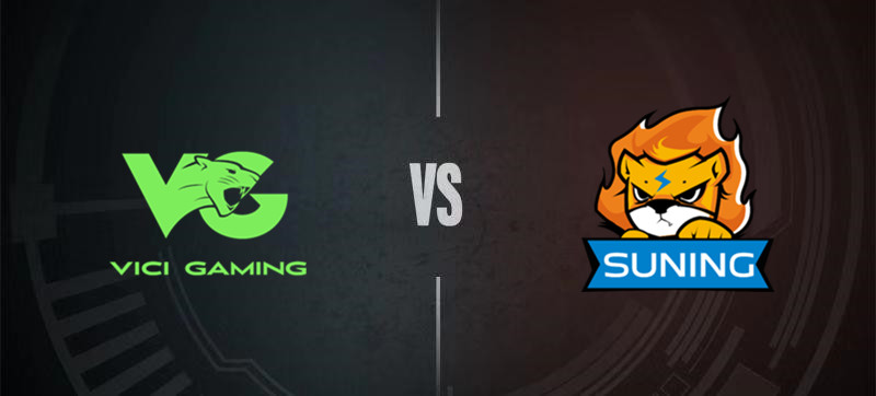 Clash between Vici Gaming and Suning Gaming in the 2020 Demacia Cup.