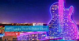 Lucky Hearts Poker Open, the WPT is back live