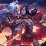 Xayah and Rakan arrive together hand in hand at Wild Rift