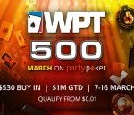 The WPT500 online at partypoker reaches its final table.  Juan Pardo, 15th
