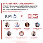 OIES, all ready for the second Esports Reputation Report