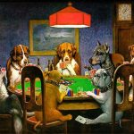 Photo de chiens jouant au poker