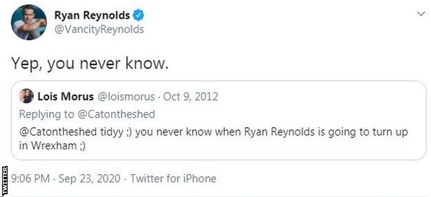 Tweet de Ryan Reynolds