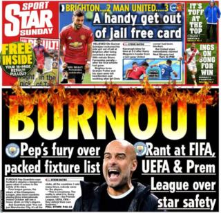 Contraportada del Daily Star Sunday