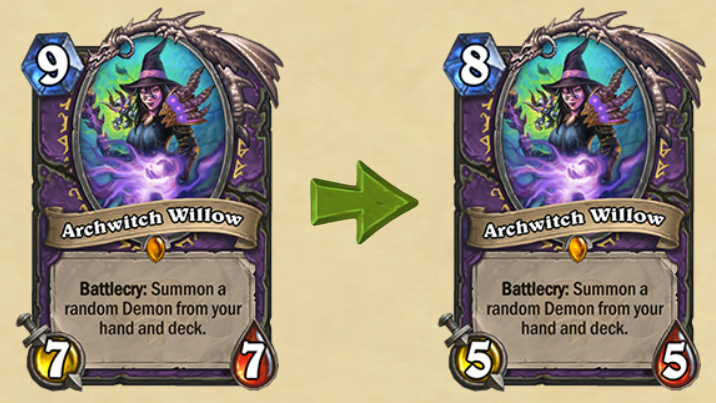 Archwitch Willow Adjustment Hearthstone
