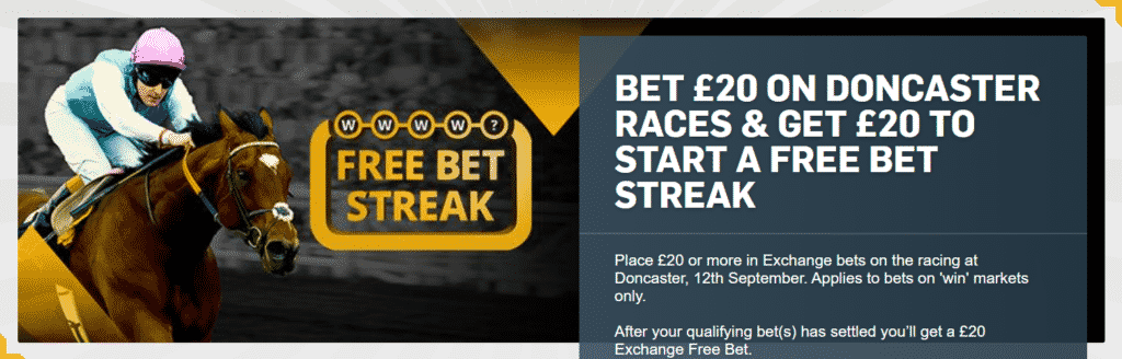 Oferta St Leger Festival 2020 - Betfair Exchange