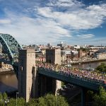 Corredores listos para Virtual Great North Run