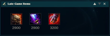 Late Game Items UDyr