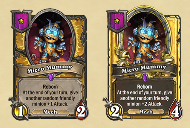 Micro Mummy Hearthstone Battlegrounds
