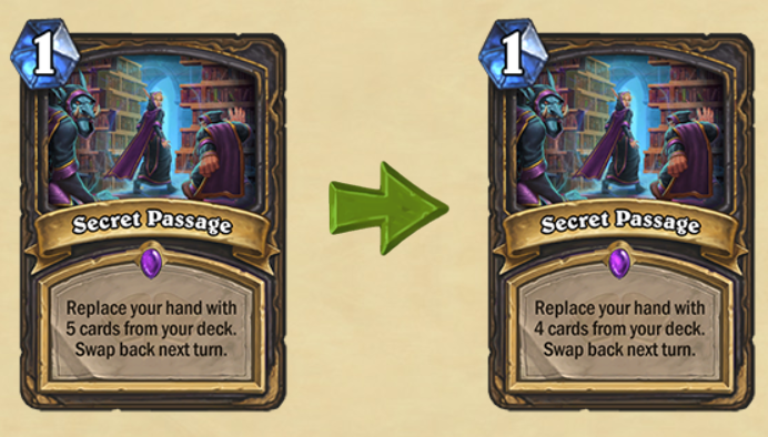 Secret Passage Nerf Hearthstone