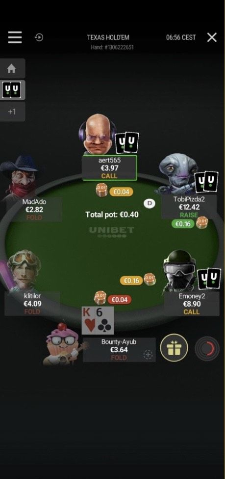Software de Unibet Poker