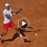 ATP Roma: el improbable drop-shot de Novak Djokovic