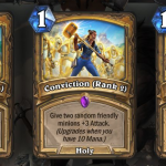 Convicción revelada por Forged in the Barrens de Hearthstone