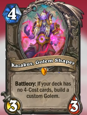Kazakus Golem Shaper llega a Hearthstone en Forged in the