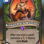 Kolkar Pack Runner revelado para Forged in the Barrens de Hearthstone
