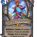 Varden Dawngrasp revelado en la expansión Forged in the Barrens de Hearthstone